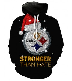 FGF7414 3D Digital Printed NFL Pittsburgh Steelers Football Team Sport Hoodie With Hat