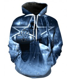 FGF7416 3D Digital Printed NFL Dallas Cowboys Football Team Sport Hoodie With Hat