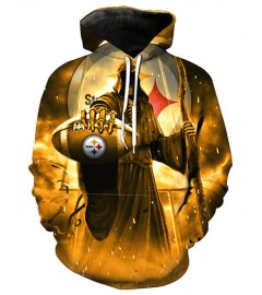 FGF7434 3D Digital Printed NFL Pittsburgh Steelers Football Team Sport Hoodie With Hat