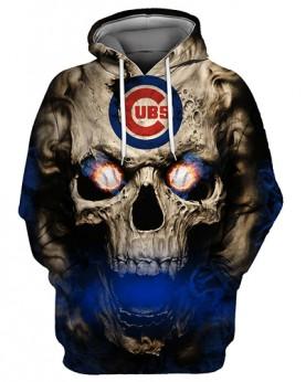 FGC0031 3D Digital Printed MLB Chicago Cubs Baseball Team Sport Hoodie With Hat