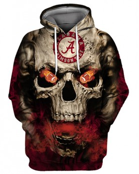 FGC0030 3D Digital Printed American University Alabama Crimson Tides Football Team Sport Hoodie Unisex Hoodie With Hat