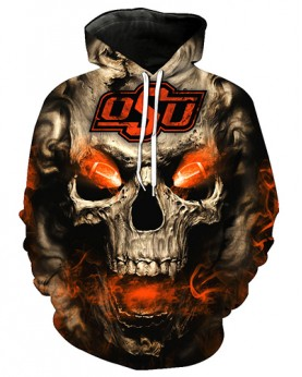 FGC7311 3D Digital Printed American University Oklahoma State Cowboys Football Team Sport Hoodie Unisex Hoodie With Hat