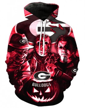 FGD7254 3D Digital Printed American University Georgia Bulldogs Football Team Sport Hoodie Unisex Hoodie With Hat