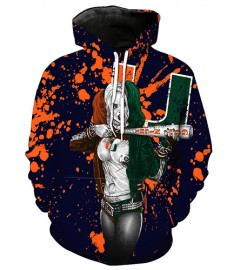 FGF6304 3D Digital Printed American University Miami Florida Hurricanes Football Team Sport Hoodie Unisex Hoodie With Hat