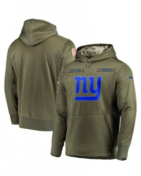 LK001-NYG Men's New York Giants Salute To Service Sideline Therma Performance Pullover Hoodie