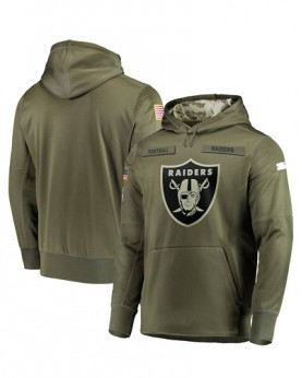 LK001-OR Men's Oakland Raiders Salute To Service Sideline Therma Performance Pullover Hoodie