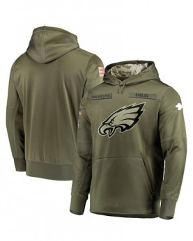 LK001-PE Men's Philadelphia Eagles Salute To Service Sideline Therma Performance Pullover Hoodie