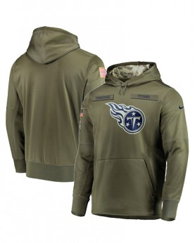 LK001-TT Men's Tennessee Titans Salute To Service Sideline Therma Performance Pullover Hoodie