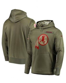 LK001-WR Men's Washington Redskins Salute To Service Sideline Therma Performance Pullover Hoodie