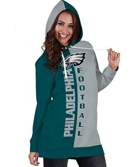 DBHS008 Pre-Order 3D Printed NFL Philadelphia Eagles Football Team Sport Hoodie Dress