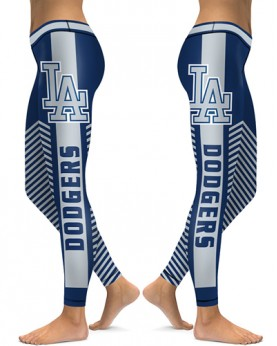 DBAQ528 High Waist MLB Los Angeles Dodgers Baseball Team 4Needle 6Thread Stitcking Sports Leggings
