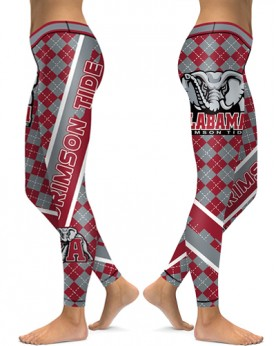 DBAQ533 High Waist American University Alabama Crimson Tide 4Needle 6Thread Stitcking College Team Sports Leggings