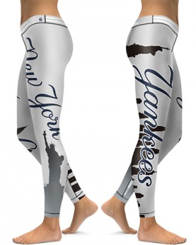 DBAQ006 High Waist MLB New York Yankees Baseball Team 4Needle 6Thread Stitcking Sports Leggings