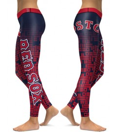 DBAQ007 High Waist MLB Boston Red Sox Baseball Team 4Needle 6Thread Stitcking Sports Leggings