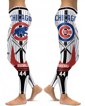 DBAQ045 High Waist MLB Chicago Cubs Baseball Team 4Needle 6Thread Stitcking Sports Leggings