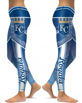 DBAQ141 High Waist MLB Kansas City Royals Baseball Team 4Needle 6Thread Stitcking Sports Leggings