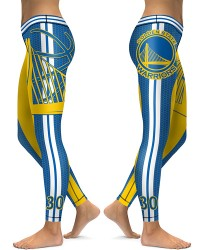 DBAQ020 High Waist NBA Golden State Warriors Basketball Team 4Needle 6Thread Stitcking Sports Leggings