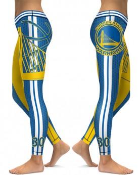 DBAQ020 High Waist NBA Golden State Warriors Basketball Team 4Needle 6Thread Stitcking Sports Leggings