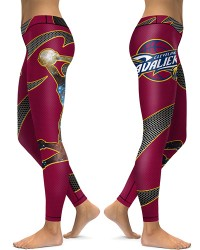 DBAQ022 High Waist NBA Cleveland Cavaliers Basketball Team 4Needle 6Thread Stitcking Sports Leggings