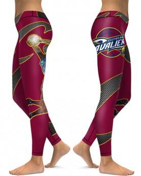 DBAQ022 High Waist NBA Cleveland Cavaliers Basketball Team 4Needle 6Thread Stitcking Sports Leggings