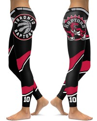 DBAQ057 High Waist NBA Toronto Raptors Basketball Team 4Needle 6Thread Stitcking Sports Leggings