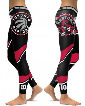 DBAQ057 High Waist NBA Toronto Raptors Basketball Team 4Needle 6Thread Stitcking Sports Leggings