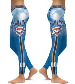 DBAQ114 High Waist NBA Oklahoma City Thunders Basketball Team 4Needle 6Thread Stitcking Sports Leggings