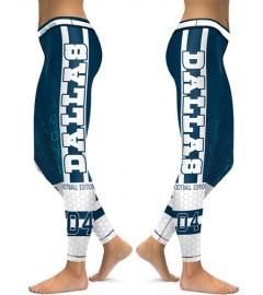 DBAQ126 High Waist NFL Dallas Cowboys Football Team 4Needle 6Thread Stitcking Sports Leggings
