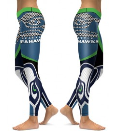 DBAQ011 High Waist NFL Seattle Seahawks Football Team 4Needle 6Thread Stitcking Sports Leggings