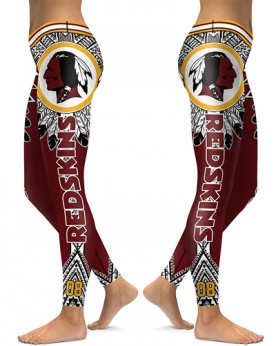 DBAQ048 High Waist NFL Washington Redskins Football Team 4Needle 6Thread Stitcking Sports Leggings