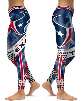 DBAQ053 High Waist NFL Houston Texans Football Team 4Needle 6Thread Stitcking Sports Leggings