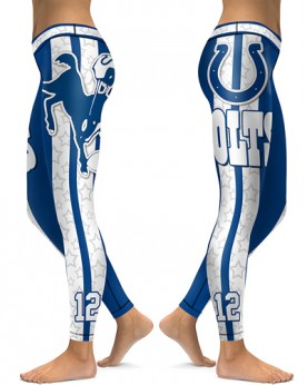 DBAQ054 High Waist NFL Indianapolis Colts Football Team 4Needle 6Thread Stitcking Sports Leggings