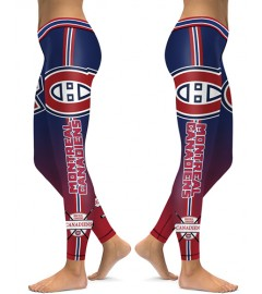 DBAQ110 High Waist NHL Montreal Canadiens Hockey Team 4Needle 6Thread Stitcking Sports Leggings