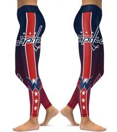 DBAQ152 High Waist NHL Washington Capitals Hockey Team 4Needle 6Thread Stitcking Sports Leggings