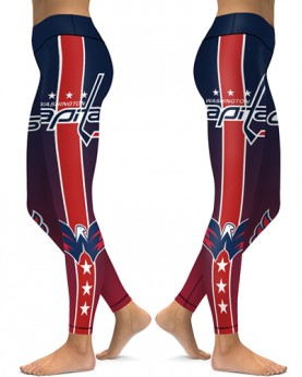 DBAQ152 High Waist NHL Washington Capitals Hockey Team 4Needle 6Thread Stitcking Sports Leggings