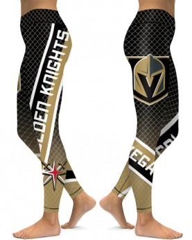 DBAQ153 High Waist NHL Las Vegas Golden Knights Hockey Team 4Needle 6Thread Stitcking Sports Leggings