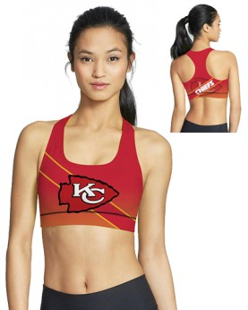 BJG46039 Pre-Order High Quality NFL Kansas City Chiefs Football Team 4Needle 6Thread Stitcking Sports Bra