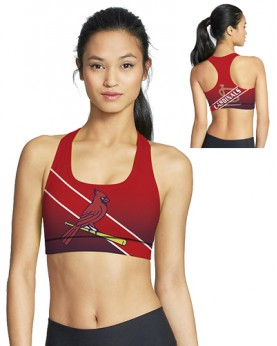 BJG46040 Pre-Order High Quality MLB St. Louis Cardinals Baseball Team 4Needle 6Thread Stitcking Sports Bra