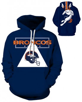 DQYDM184 3D Digital Printed NFL Denver Broncos Football Team Sport Hoodie Unisex Fit Style Hoodie With Hat