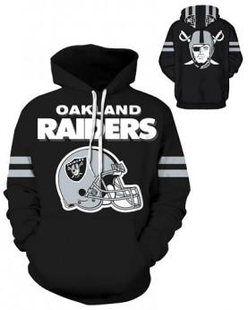 DQYDM188 3D Digital Printed NFL Oakland Raiders Football Team Sport Hoodie Unisex Fit Style Hoodie With Hat
