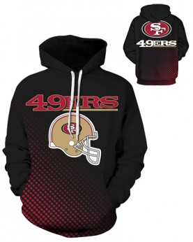 DQYDM190 3D Digital Printed NFL San Francisco 49ers Football Team Sport Hoodie Unisex Fit Style Hoodie With Hat