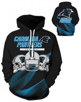 DQYDM191 3D Digital Printed NFL Carolina Panthers Football Team Sport Hoodie Unisex Fit Style Hoodie With Hat