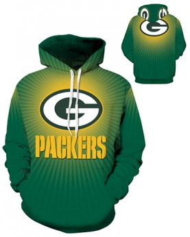 DQYDM192 3D Digital Printed NFL Green Bay Packers Football Team Sport Hoodie Unisex Fit Style Hoodie With Hat