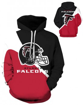 DQYDM193 3D Digital Printed NFL Atlanta Falcons Football Team Sport Hoodie Unisex Fit Style Hoodie With Hat