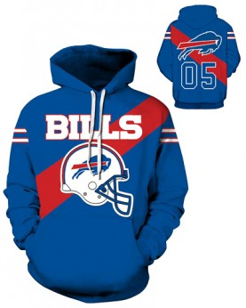 DQYDM197 3D Digital Printed NFL Buffalo Bills Football Team Sport Hoodie Unisex Fit Style Hoodie With Hat