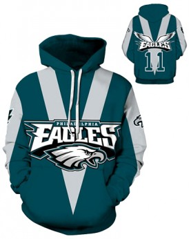DQYDM199 Pre-Order 3D Digital Printed NFL Philadelphia Eagles Football Team Sport Hoodie Unisex Fit Style Hoodie With Hat