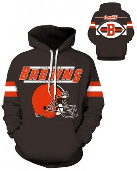 DQYDM203 3D Digital Printed NFL Cleveland Browns Football Team Sport Hoodie Unisex Fit Style Hoodie With Hat