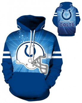DQYDM204 3D Digital Printed NFL Indianapolis Colts Football Team Sport Hoodie Unisex Fit Style Hoodie With Hat