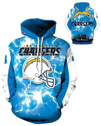 37d6a5be7 DQYDM206 3D Digital Printed NFL Los Angeles Chargers Football Team Sport  Hoodie Unisex Fit Style Hoodie With Hat