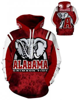 DQYDM214 3D Digital Printed American University Alabama Crimson Tides Football Team Sport Hoodie Unisex Hoodie With Hat